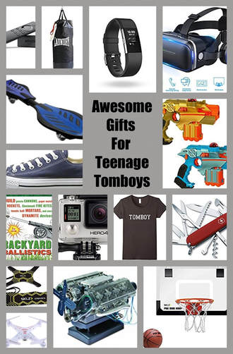 Gadgets, toys and clothing gifts for teenage tombosy